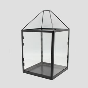 Box Lantern Tall Black