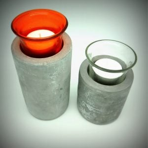 Cement Dinner & Pillar candle holder