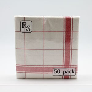 Red Check Napkin Everyday Printed Designs