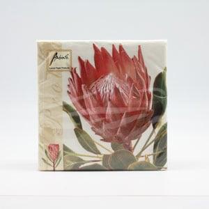 Protea Napkin Printed Maki & Daisy Designs