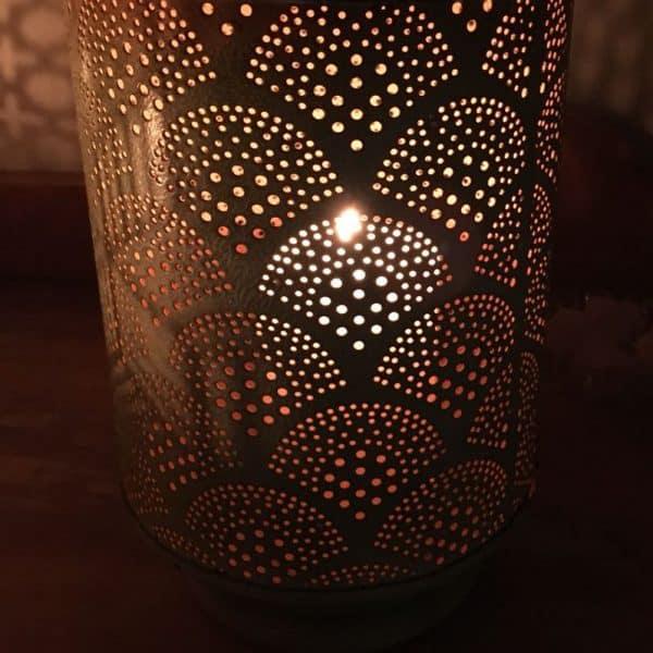 Metal Fan Design Lantern