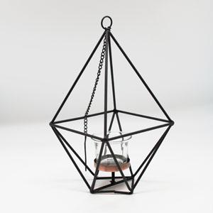 Metal Geometric Hanging Tealight Holder