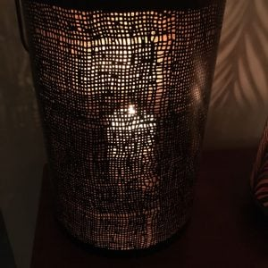Metal Hessian Design Lantern