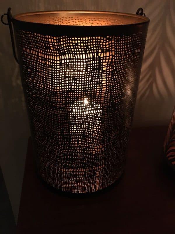 Metal Hessian Design Lantern