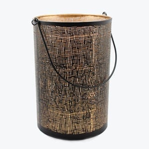 Metal Hessian Lantern