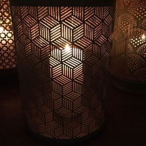 Metal Honeycomb Design Cylinder