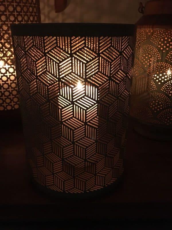 Metal Honeycomb Design Cylinder