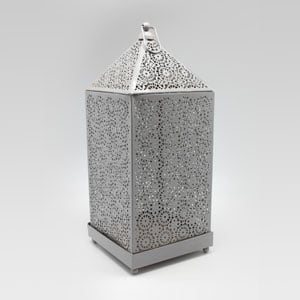 Metal Lantern Large Grey
