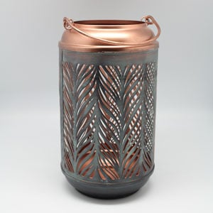 Metal Leaf Lantern