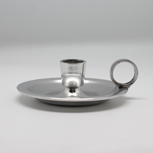 Nightingale Dinner Candlholder silver