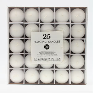 Small Floating Candles 6hrs 25 Pack