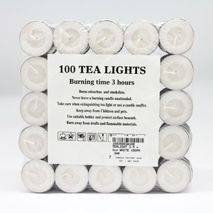 Tealights 3hr 100pk
