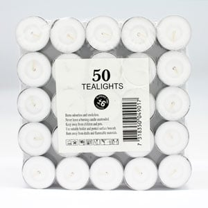 Tealights 6hr 50pk