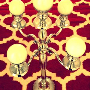 Aluminium Candelabra Large (India)