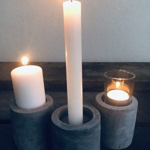 Cement Dinner Candle & Tealight Holder