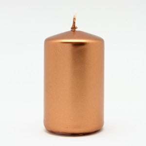 Rose Gold Pillar Candle 5x8