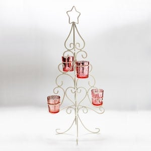 Advent Tree White with candle holders