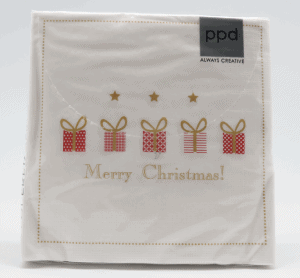 Merry Christmas 5 gifts on white