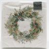 Wreath on white background