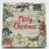 Merry Christmas with Berries/Hollies frame